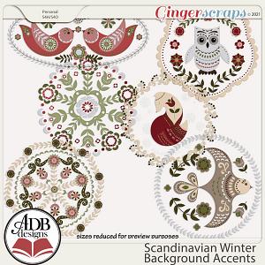 Scandinavian Winter Background Accents by ADB Designs
