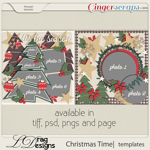 Christmas Time:Templates by LDragDesigns