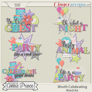 Worth Celebrating - Word Art Pack