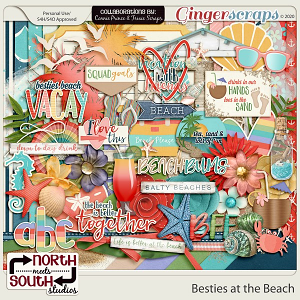 Besties At The Beach by North Meets South Studios