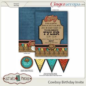 Cowboy Birthday Invitation by Scraps N Pieces