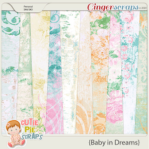 Baby In Dreams Shabby Chic Papers