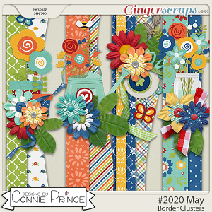 #2020 May - Border Clusters by Connie Prince