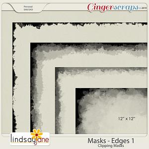 Masks Edges 1 by Lindsay Jane