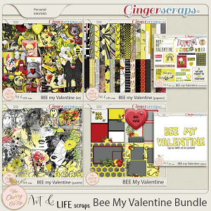The Cherry On Top And Art And Life Scraps:  Bee My Valentine Bundle