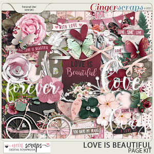 Love is Beautiful - Page Kit - by Neia Scraps