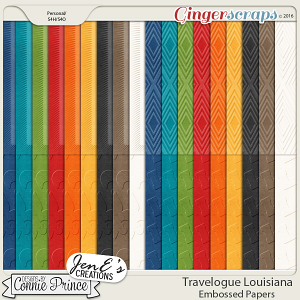 Travelogue Louisiana - Embossed Papers Pack