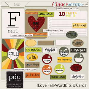 Love Fall (Wordlist and Cards)