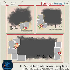 KISS -Blended Stackers Templates by Miss Fish