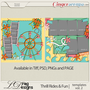 Thrill Rides & Fun: Templates Vol. 2 by LDrag Designs