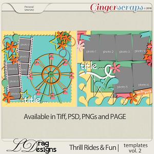 Thrill Rides & Fun: Templates Vol. 2 by LDrag Designs