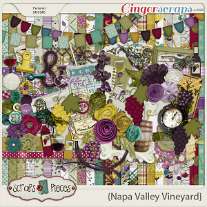 Napa Valley Vineyard kit by Scraps N Pieces