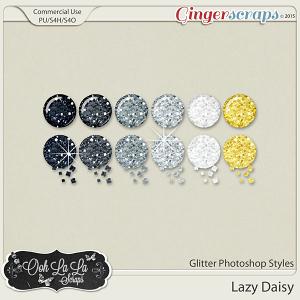 Lazy Daisy Glitter Photoshop Styles