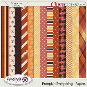 Pumpkin Everything - Papers by Aprilisa Designs