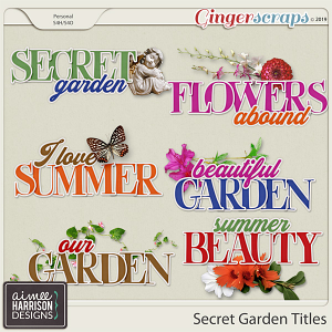 Secret Garden Titles by Aimee Harrison