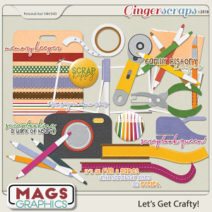 Let's Get Crafty SCRAPBOOK PACK by MagsGraphics