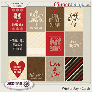 Winter Joy - Cards by Aprilisa Designs.