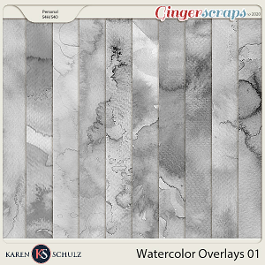 Watercolor Overlays 01 by Karen Schulz