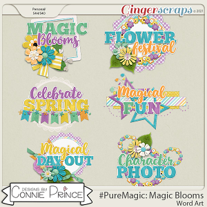 PureMagic: Magic Blooms - Word Art Pack by Connie Prince
