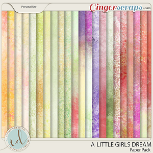 A Little Girls Dream Paper Pack by Ilonka's Designs
