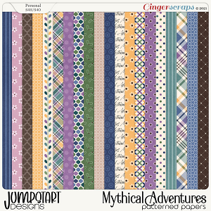 Mythical Adventures {Patterned Papers}