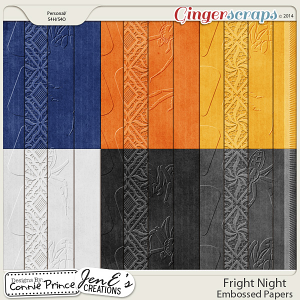 Fright Night - Embossed Papers