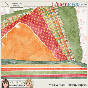 Dottie & Brad Shabby Papers by K4K