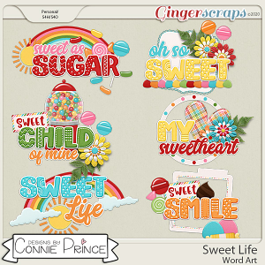Sweet Life - Word Art Pack by Connie Prince