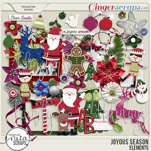 Joyous Season - Elements - by Neia Scraps