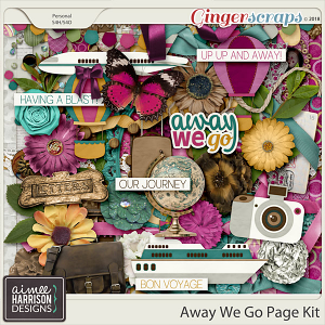 Away We Go Page Kit by Aimee Harrison