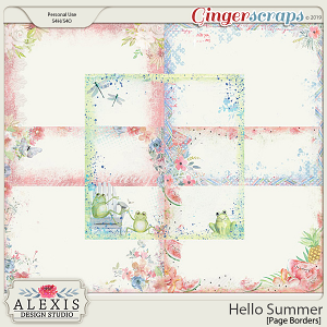 Hello Summer - Page Borders