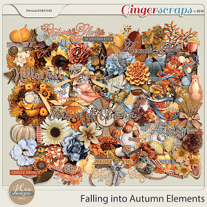 Falling into Autumn Elements by JoCee Designs