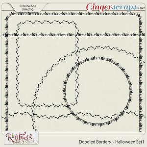 Doodled Borders ~ Halloween Set1