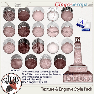 Heritage Resource - Texture and Engrave Style Pack by ADB Designs