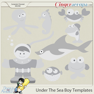 Doodles By Americo: Under The Sea Boy Templates