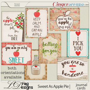 Sweet As Apple Pie: Journal Cards by LDragDesigns