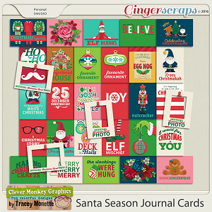 Santa Season Journal Cards by Clever Monkey Graphics