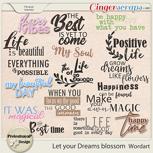 Let your Dreams blossom Wordart
