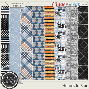 Heroes In Blue Worn and Tattered Papers