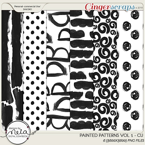 Painted Patterns - VOL 01 - by Neia Scraps - CU1