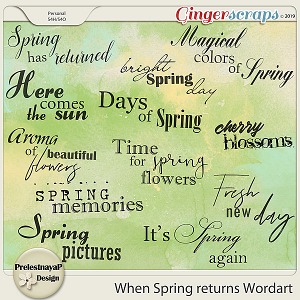 When Spring returns Wordart