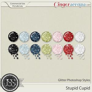 Stupid Cupid CU Glitter Photoshop Styles