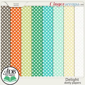 Delight Dotty Paper by ADB Designs