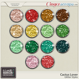Cactus Lover Glitters by Aimee Harrison