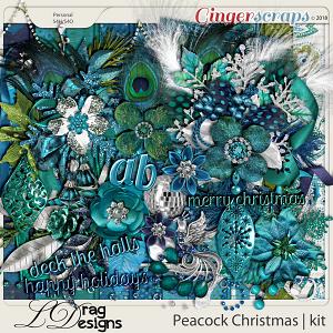 Peacock Christmas by LDragDesigns