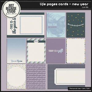 Life Pages Cards - New Year by JB Studio