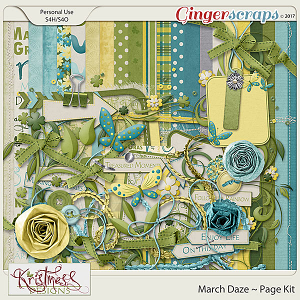 March Daze Page Kit