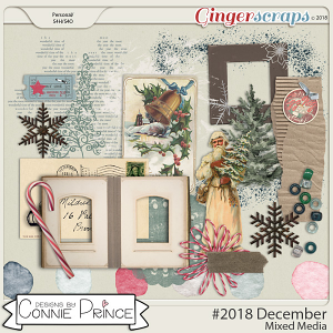 #2018 December - Mixed Media by Connie Prince