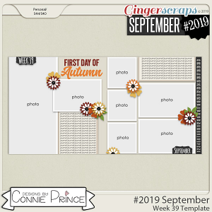 #2019 September - Week 39 Template Pack (CU Ok) by Connie Prince