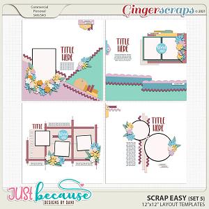 Scrap Easy 5 Templates by JB Studio